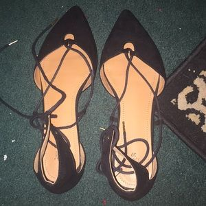 Flats lace up ankle